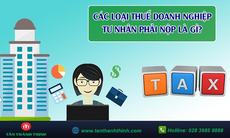 Các loại thuế doanh nghiệp tư nhân phải nộp